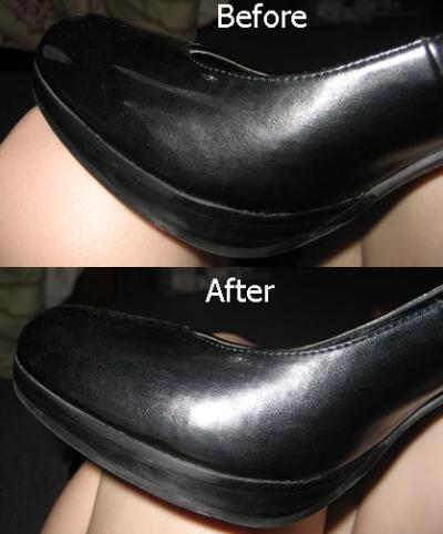 RE: Scuff Marks On Patent Leather Shoes