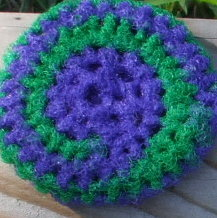 Free Pattern Crochet Nylon Pot Scrubbers : Crocheted Pot Scrubber ThriftyFun