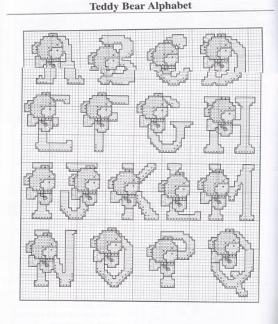 ALPHABET COUNTED CROSS STITCH PATTERNS | Design Patterns