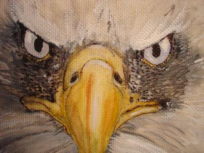 RE: American Flag and Eagle Painting