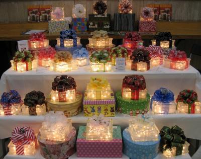 Glass block christmas decoration thriftyfun - Glass block decoration ideas ...