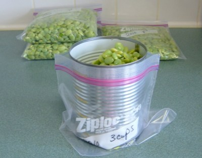 RE: Use a Can for Filling Freezer Bags
