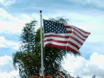 U s flag etiquette thriftyfun for 3 flag pole etiquette