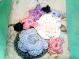 Photo of hand made crochet hook holder