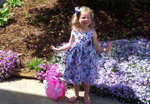 Photo of an Easter Girl