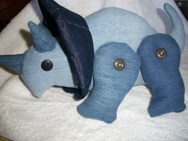 Photo of a Denim Triceratops Toy