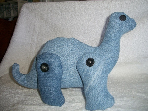 Photo of a Denim Brontosaurus Toy