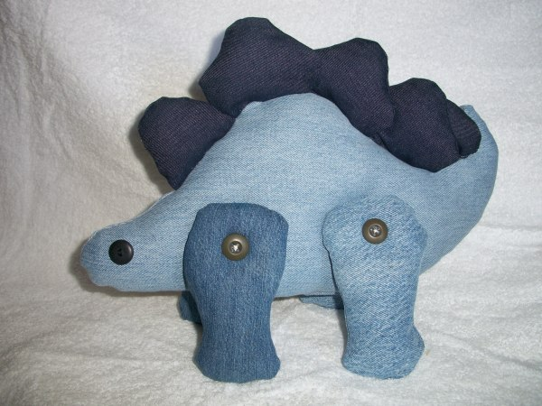 Photo of a Denim Stegosaurus Toy