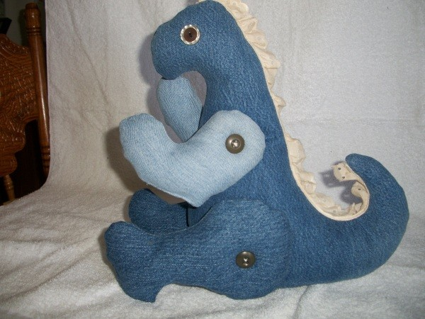 Photo of a Denim Dinosaur Toy