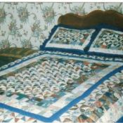 Photo of Quilt made from fabric sample