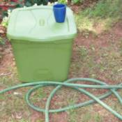 Photo of a green plastic container