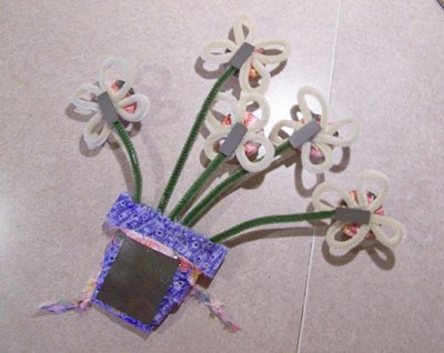 Photo of step 4 of Flower Pot Note Holder Craft