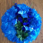 Photo of Blue Plastic Bag Wreath