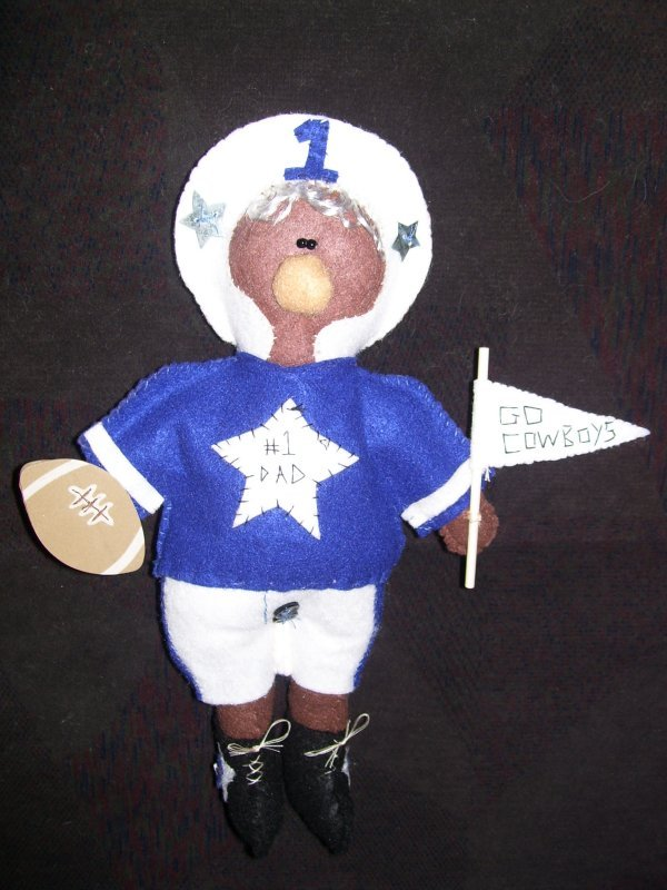 Photo of a Football Dad Doll