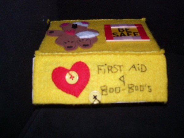 The front and side of the completed Boo Boo Box.