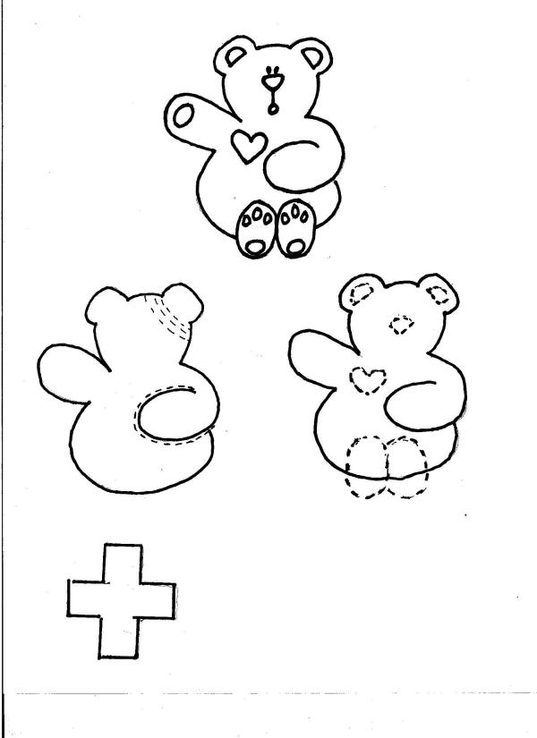A template for the Boo Boo Box Bear.