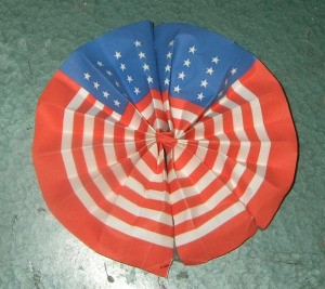 A folded paper shaped into a circle.