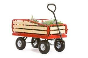 4 wheeled garden cart