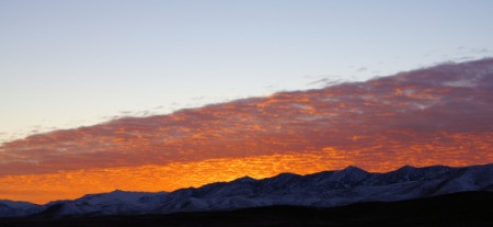 A beautiful mountain sunset in Nevada.