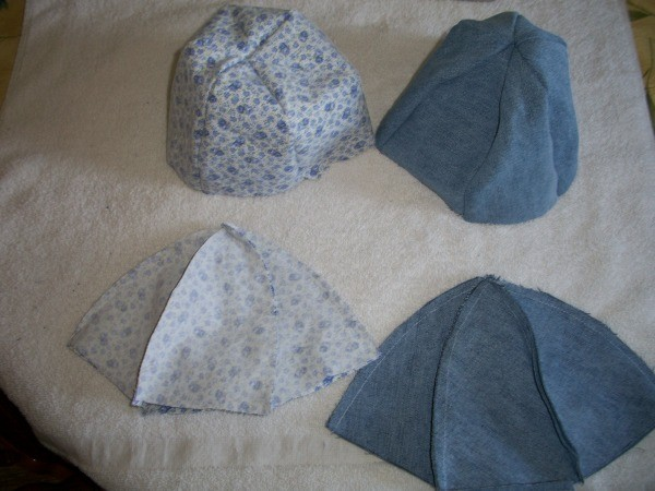 Denim Hats Step 3