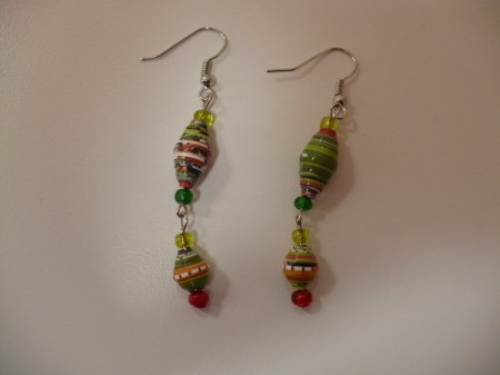 finished pair of earrings