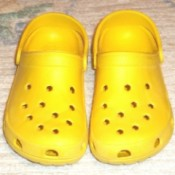 Clean Yellow Croc Shoes