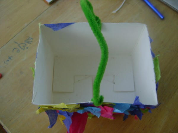 Inside of Handmade Gift Box