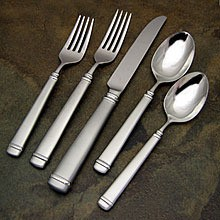 A polished set of silverware