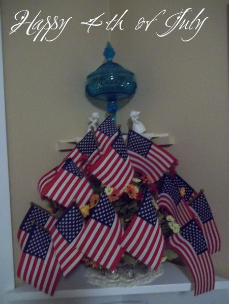 Centerpiece with flags for the 4th of July