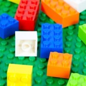 Close-up of Legos