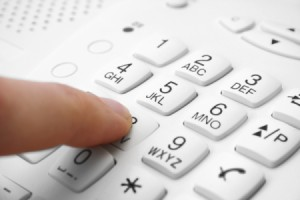 Picture of a telephone keypad.