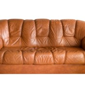 photo of brown leather couch
