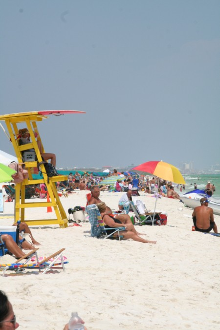 People at the beach in Destin, FL.