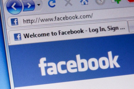 Protecting Your Privacy on Facebook, Facebook login page a computer.
