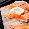 Grilled salmon filets.