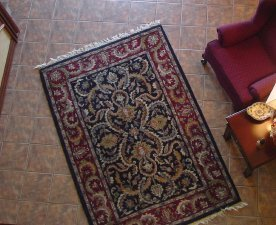 photo of an area rug from above