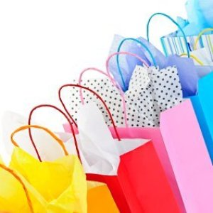 Colorful gift bags.