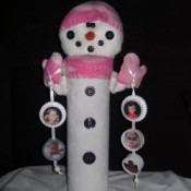 Front of Snowlady, Winter decoration