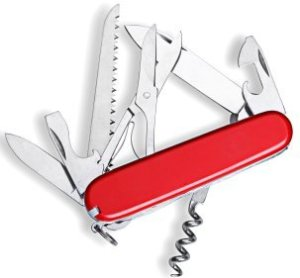 Open Swiss army knife