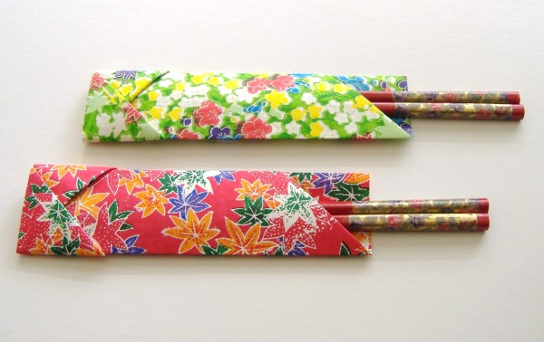 Origami chopstick sleeve l1