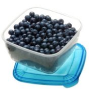 Blueberries in a lidded container