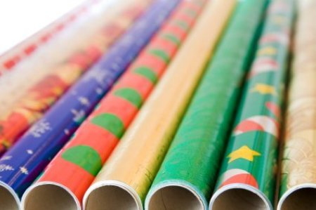 Picture of rolls of wrapping paper.
