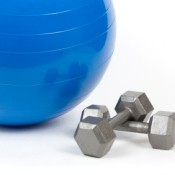 Exercise Ball in Free Weights