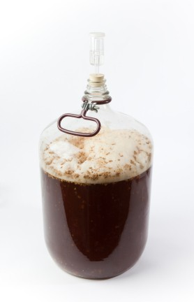 Saving Money on Homebrewing, Carboy with Homebrew