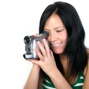 Woman using a Video Camera