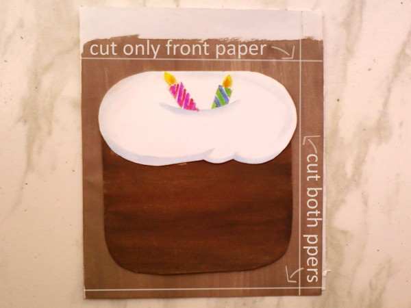 Making Envelope for Cake Card 2