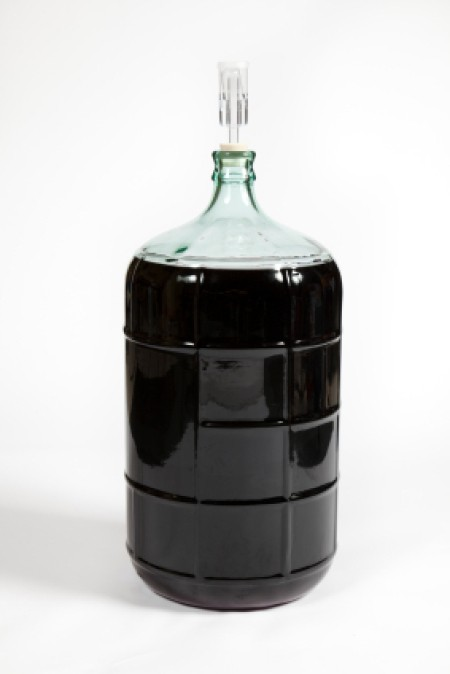 Homemade Wine in Glass Carboy