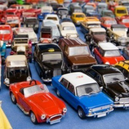 Collection of Matchbox cars.