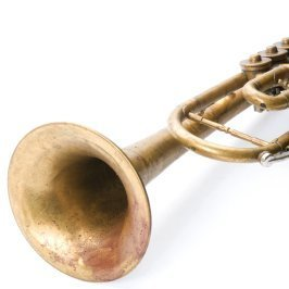 Uses for Old Musical Instruments, Old trumpet on a white background.