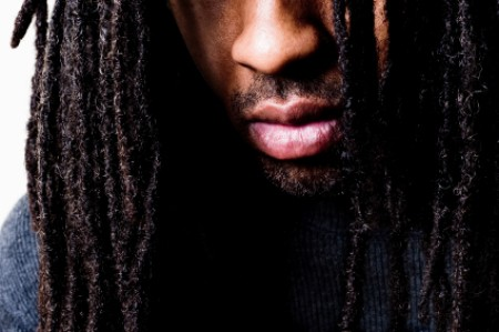 Closeup of African American Man with Dreadlocks